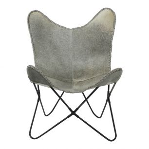 Butterfly chair cow grey (self assembly) max. 100 kg (bos taurus taurus)