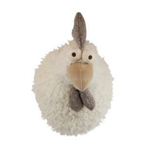 Cuddly toy rooster head 40cm