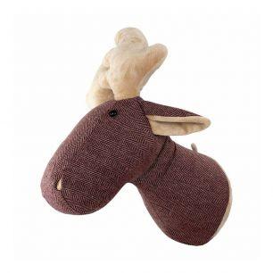 Cuddly toy deer head 27cm