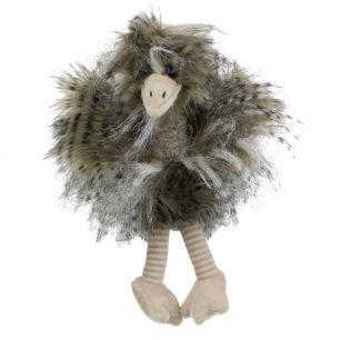 Cuddly toy long hair ostrich 28cm