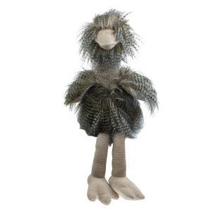 Cuddly toy long hair ostrich 43cm