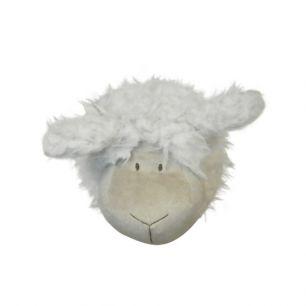 Cuddly toy sheep head 14cm