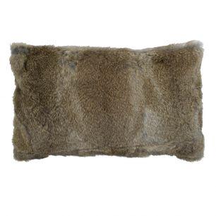 Cushion rabbit brown 30x50cm (oryctolagus cuniculus)