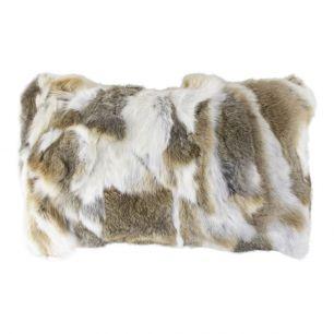 Cushion rabbit mix brown 30x50cm (oryctolagus cuniculus)
