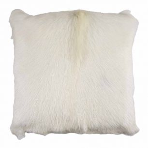 Cushion goat white 40x40cm (capra aegagrus hircus)