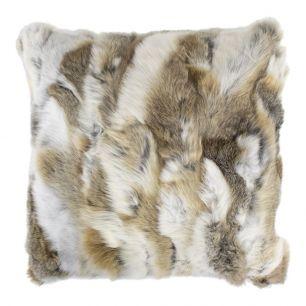 Cushion rabbit mix brown 40x40cm (oryctolagus cuniculus)
