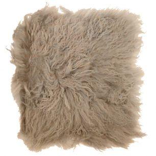 Seat pad sheep curly hair beige 40x40cm