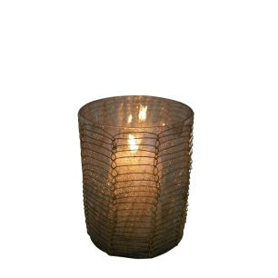 Tealight filigree1 straight brown 8cm