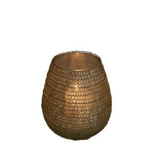 Tealight filigree3 round gold 10cm
