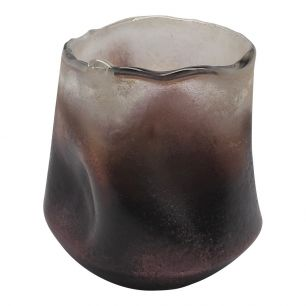 Hand-blown glass violet 1