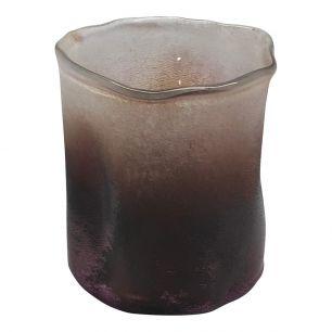 Hand-blown glass violet 2