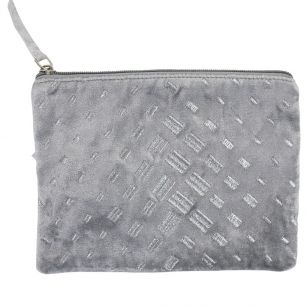 Case velvet light grey 15x21cm
