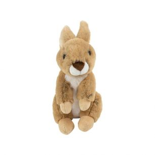 Cuddly toy sitting brown rabbit 21cm