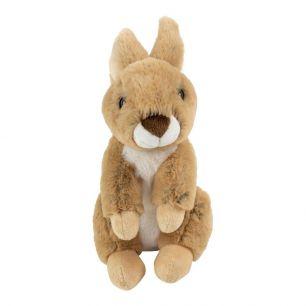 Cuddly toy sitting brown rabbit 23cm