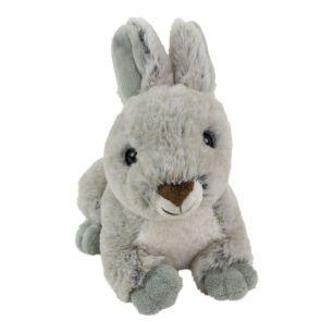 Cuddly toy rabbit lying gray 21cm