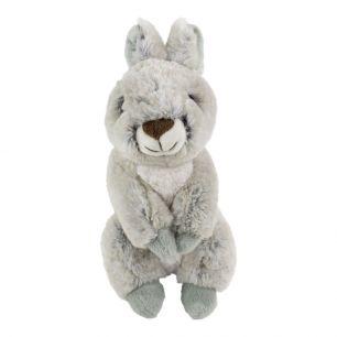 Cuddly toy sitting gray rabbit 21cm