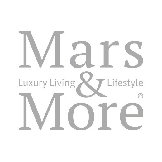 Tea light holder glass leopard print medium
