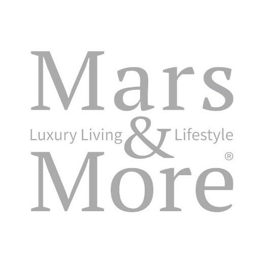 Tea light holder glass plant fern gold medium