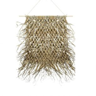 Wall tapestry braided palm leaf on stick 80cm