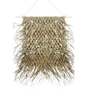 Wall tapestry braided palm leaf on stick 90cm