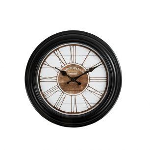 Wall clock 30cm black amsterdam